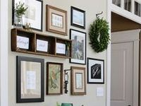 Ideas for art, gallery walls, photo displays and hand painted signs.