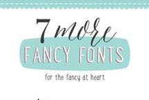 Fonts / by Melissa Graham