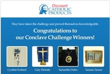 The Conclave Challenge / Are you ready to test your conclave knowledge? Come and join The Conclave Challenge today for a chance to win a special Catholic prize everyday. Winners will be drawn daily! Go here to join: http://www.facebook.com/DiscountCatholicProducts/app_208585222608866 / by Discount Catholic Products