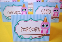 Owl Birthday Party Ideas / by Dizzy Design Studio