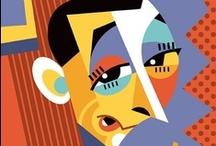 <<< caricatures >>> / by Curt R. Jensen