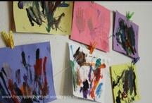 Displaying Kids Art / by Natasha Mairs (Serenity You)
