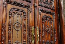 Doors/Doorwys-Solid Wood/stone / carved, painted, inlayed, embellished... / by Jerri Oyama