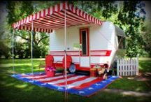 Glampers / My wife and I use this for inspiration for the vintage camper we just finished redoing. It is a gift to my wife who wants to go glamper camping. She deserves it! / by Gary Stoltenberg Sr.
