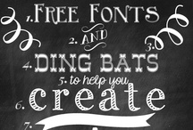 FREE fonts / free fonts / by Regina Stanmar