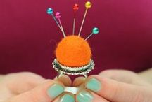 on pins and needles... / pincushion and needle collections #pincushions / by Karen Roark
