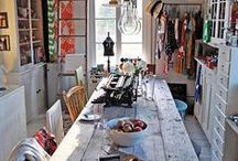 Where we make stuff. / Cool craft rooms and craft organization ideas #craftroom #organization / by Karen Roark
