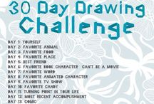 30 day drawing challenge / by Autumn Beck