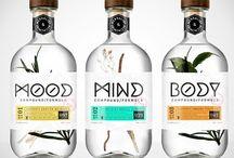   Etiquetas y botellas   / Etiquetas y botellas de agua, cerveza, licores, etc... con un diseño fuera de lo común. / by Paco Almeida