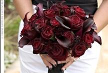 ideas for Lynn Ellen... / September 29, 2012 Sudbury, MA -black, gray, ivory, red wine color pallette, antique glam design / by the flower girl