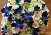 ideas for Katie... / September 20, 2013 Gloucester, MA -royal blue dresses with green and blue flowers / by the flower girl