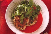 Crab Cakes with Red Pepper Dressing / by Rocco DiSpirito