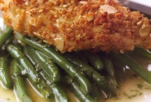 Chicken Amandine with Green Beans and Lemon Butter / by Rocco DiSpirito