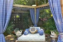 outdoor living area / by Amy K