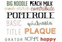 Fonts / So fun to use! / by Amy K