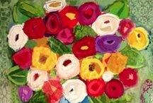 Art: Christy Kinard / Lovely florals in every shade of color. / by Christi
