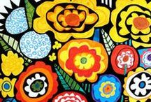 Art: Heather Galler / Folk art at it's best: bright and full of energy! / by Christi