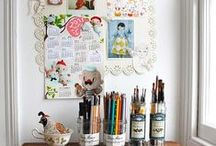 CREATIVE SPACES / I do have a craft room and love to spend time in the room.  I'm there on Saturday mornings to de-stress from the work week! / by Lori de la Rosa