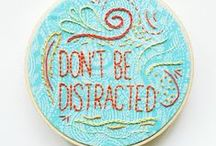 hand stitching / by Debra Verrall