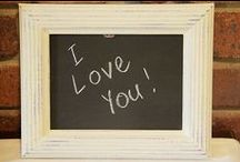 Chalkboards and Frames / by I Restore Stuff /Sharon