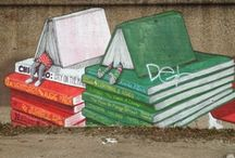 Books on Buildings / Lovely literary murals and installations. / by Textbooks.com