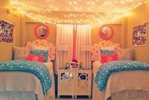 Home Sweet Dorm / It's the little touches that make your dorm room feel like home — like comfy pillows and throws, plush rugs, and eye-catching wall art. Get inspired by these daring dorm room designs. / by Textbooks.com