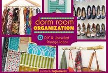 Dorm Room Organization DIY / Maximize your living space – and up the design quotient –  with our roundup of DIY projects, storage tips, and dorm room organization ideas. Check it out on http://blog.textbooks.com > http://ow.ly/Cd6Nl  / by Textbooks.com