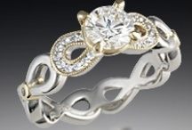 Infinity Symbol Engagement Rings / by Krikawa Jewelry Designs