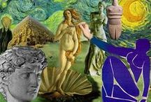♛ Art Ed: Art History Unit 1 / ♛ Pins to help inspire teach about ancient antiquities.  These are links to help teach about cave art, ancient Greece, Greek Gods, and ancient Egypt. / by Camille Obert-Goralski