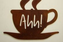 My Coffee Addiction / Yes, I admit it...I'm addicted to coffee. I only drink it in the mornings now, though, because the caffeine tends to bother me in my old age! I also enjoy sharing quotes about coffee as well as artwork that features coffee as the subject. / by Creative Name Signs - Personalized Decor