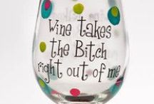 Vino! / I also love my wine! I'm not hard to please but I do prefer white over red. My hubby and I purchased a home wine making kit...we'll see how it goes! Meanwhile... / by Creative Name Signs - Personalized Decor