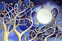 The Moon / I don't know what it is about the moon but I simply love it! I love to use it in my artwork. I love to look at it in the night sky...I feel such a sense of wonder when I see the moon especially when it's wrapped up in mist. I love to see how others represent it in their art. The moon evokes a sense of spirituality in me that can be addicting! / by Creative Name Signs - Personalized Decor