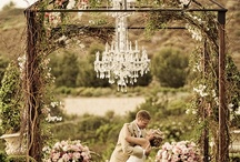 Chandeliers  / by WeddingLovely