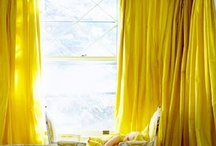 YELLOW / Inspirational images of window treatments + details in prints + solids in shades of yellow. / by The Curtain Exchange