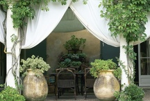 OUTDOOR SPACES / Inspirational outdoor spaces using curtain panels: Pool areas + patio + decks + events. / by The Curtain Exchange