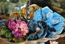 Fabrics, Ribbons, Buttons,Beads & Bows...Oh My.... / Candy for my eyes... / by JoDina .