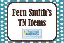 Fern Smith's Teachers Notebook Items / Fern Smith's TeachersNotebook teaching products for sale, including Math and Literacy centers, center games, PowerPoints, Spelling units, Word Work bundles and teacher Freebies! / by Fern Smith