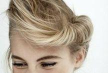 H-A-I-R / hair, bun, pony tail, bohemian, classic, inspiration, style, blonde, long hair, short hair, braids, instructions, google / by Tanja Heikkilä
