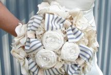 Fabric flowers/ brooch bouquet / by Vicky Van den Heuvel