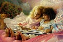 ART: Beautiful Readers, Read to Me! / Such beautiful paintings of readers! Makes you want to discover what has them so enthralled. / by Connie Baten