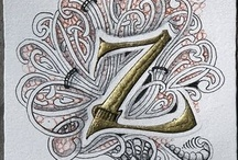 Oodles of Doodled and Tangled Letters / by Rose Martin