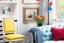 Interiors w/a Splash of Colour   / Unexpected splashes of color to make your spaces vibrant and fun. / by Dellah's Jubilation