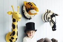 Jungle/ Animal kids room / Let your imagination run wild! Vibrant colors and fun animals / by Dellah's Jubilation
