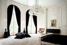 Black & White Interiors / by Dellah's Jubilation