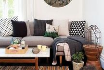 Interior Design / A mixed taste of comfy cozy and chic, muted colors, jewel tones, vibrant pops of fun. Add some leather, some tufted poufs, headboards, sparkly or fuzzy pillows.. lots of texture and I'm in love with any room. / by Dellah's Jubilation