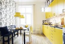 Kitchens / My Hubby does the cookin' but It's my fave room in the house. Clean, sleek and simple kitchens to create beautiful dishes in, with a few quirky and fun kitchens. / by Dellah's Jubilation