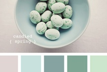 Color & Design Inspiration / Mostly color boards, predominantly blues and greens... / by Andrea Hable