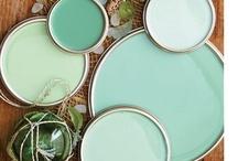 Laundry room ideas / mint green & navy / slate blue / by Andrea Hable