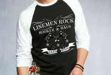 Lineman & Linewife Shirts / Shirts for Power Linemen, lineman's wives and linekids from www.LinemenRock.com / by Krista Conway