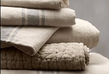 T I L E + F A B R I C / I love natural fibers with texture linen & cotton.... / by Teri Youngblood